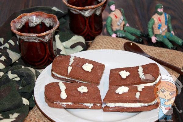 Печенье в виде погон на 23 февраля