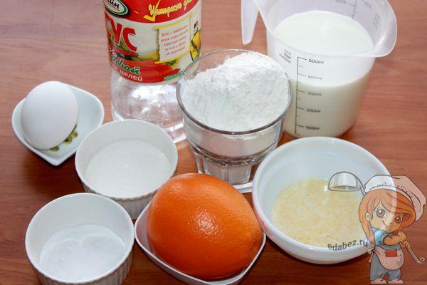 продукты для приготовления блинов