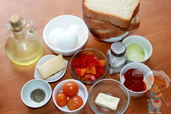 Овощная фритата - ингредиенты