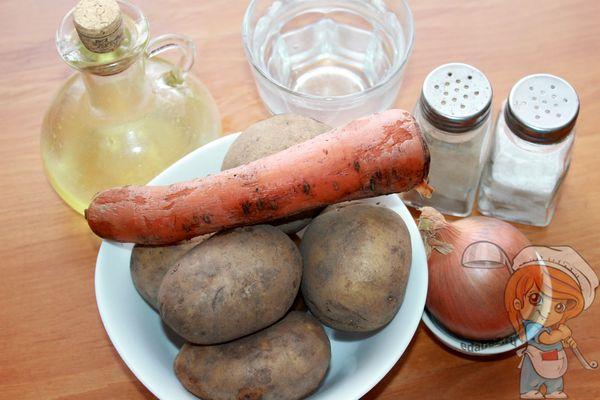 продукты для приготовления овощного кебаба
