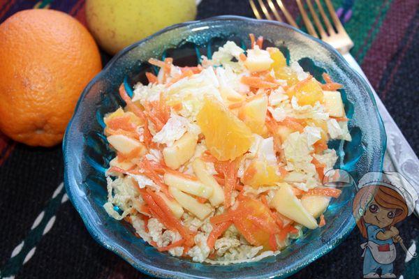 сочный салат с пекинской капустой и апельсином