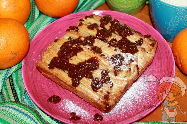 Рецепт пирога в виде гармошки