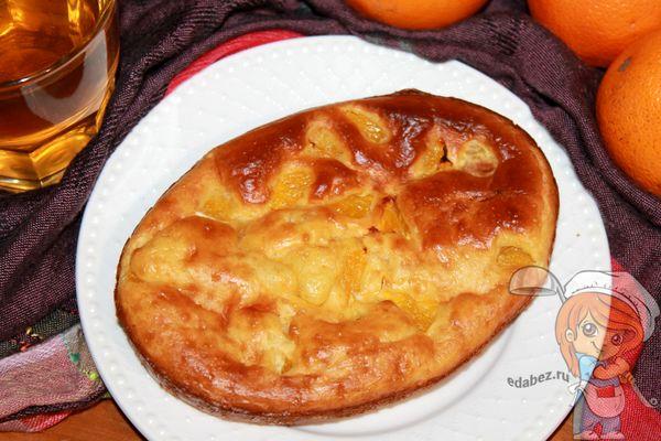 постный морковно-апельсиновый пирог