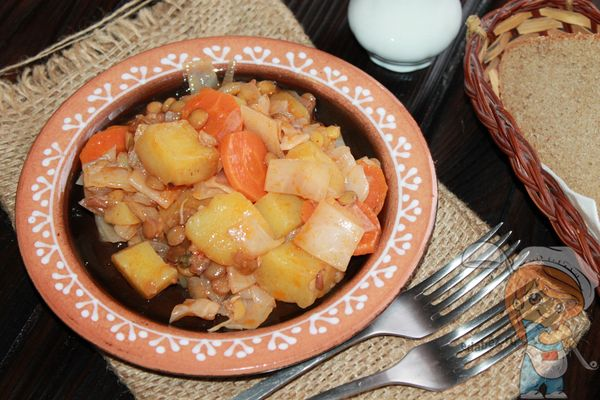 рагу из чечевицы с овощами без мяса - рецепт с фото