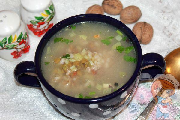 вкусный армянский суп с чечевицей