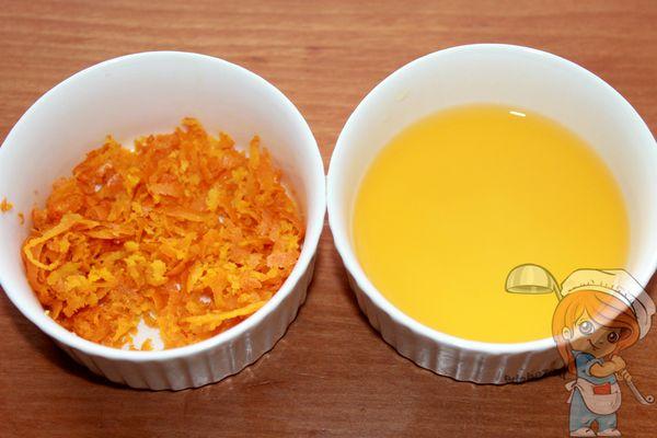 цедра и апельсиновый сок