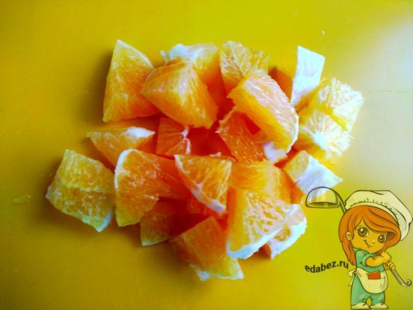 Апельсин кубиками