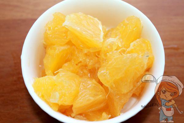 Апельсин дольками