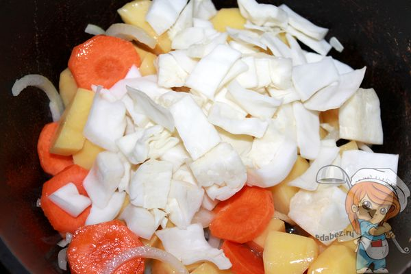 Отправляем капусту к овощам