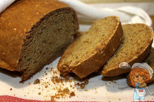 Овсяный домашний хлеб в духовке