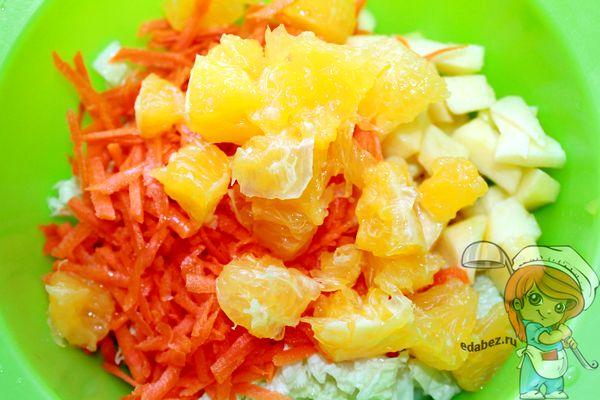 Добавляем к салату апельсин