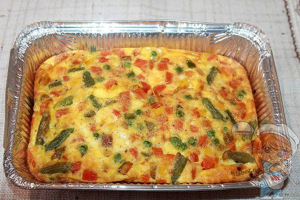 омлет фриттата с овощами