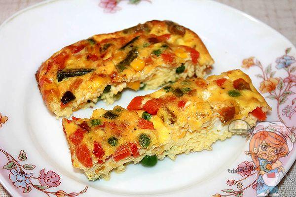 омлет фриттата овощная - пошаговый рецепт