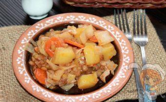 рагу с чечевицей - овощной рецепт