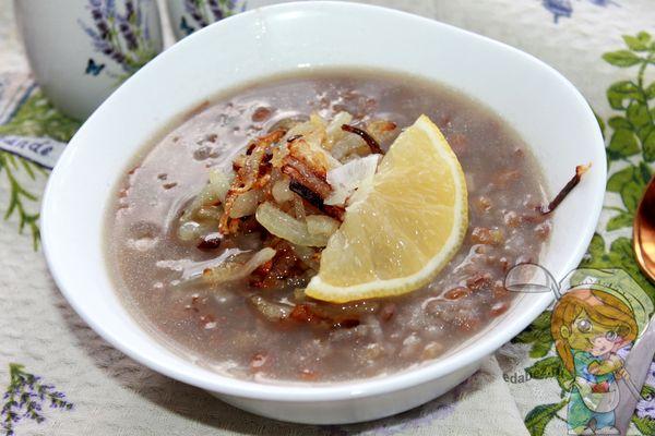ливанский чечевичный суп - рецепт с фото