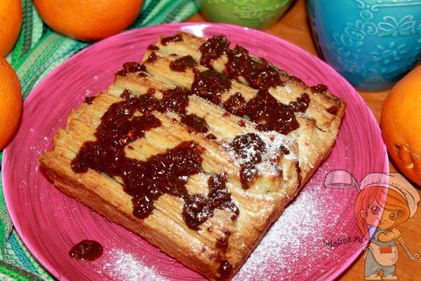 пирог Гармошка к чаю - рецепт с фото