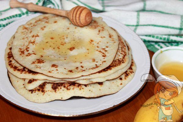 рисовые блины с бананом без глютена и сахара