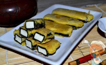 Вегетарианская рыба из адыгейского сыра и нори