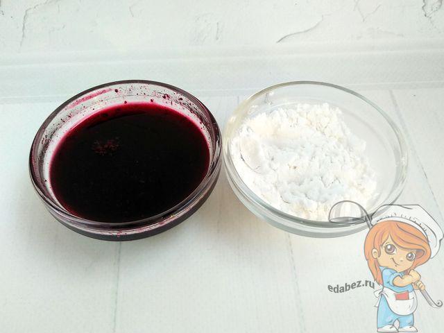Ингредиенты для глазури на крахмале