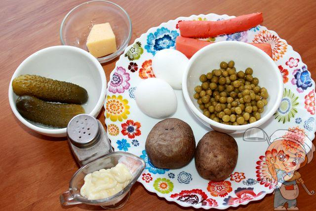 Ингредиенты для пасхального салата