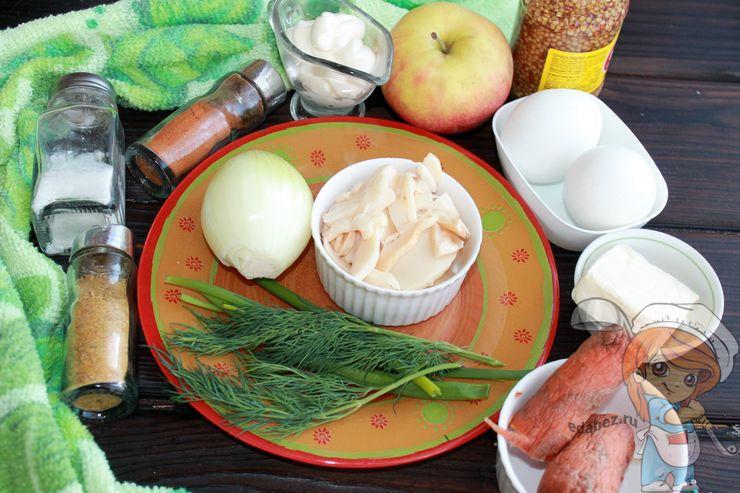Продукты для пасхального салата