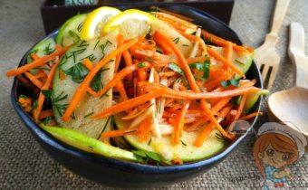Салат с топинамбуром, морковью и яблоком