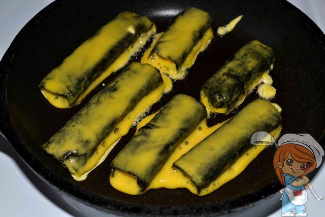 Обжариваем вегетарианскую рыбу