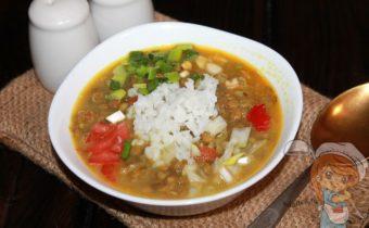 суп с чечевицей и рисом - рецепт с фото