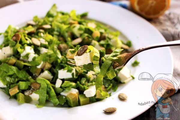 Зеленый цезарь - рецепт приготовления