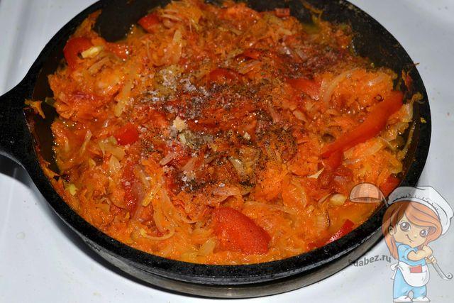 Овощная начинка для лазаньи