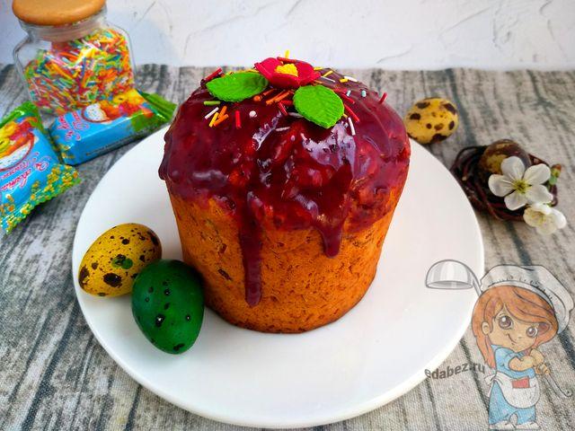 кулич без яиц - рецепт с фото