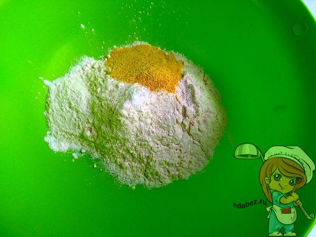 Цедра апельсина в муке