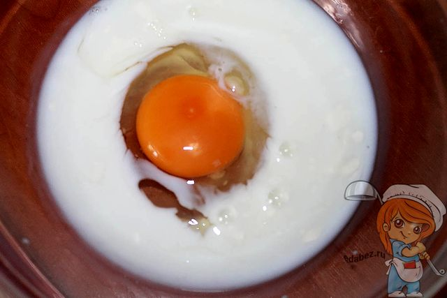 Яйцо с молоком
