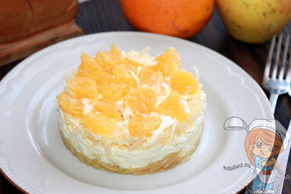 салат с апельсином и сыром - рецепт с фото