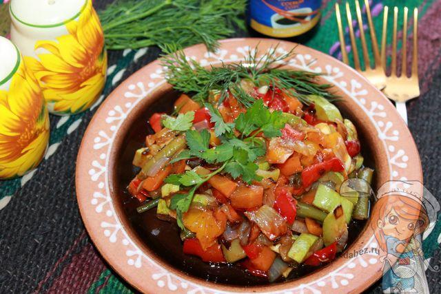 Овощи в соевом соусе - рецепт с фото