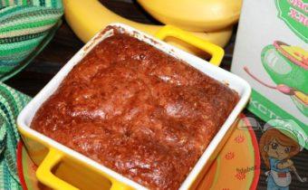 Овсяный пирог с творогом и бананом