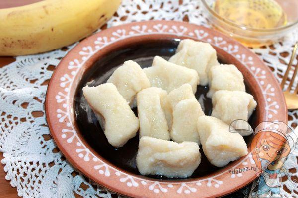 вареники с бананом - пошаговый рецепт
