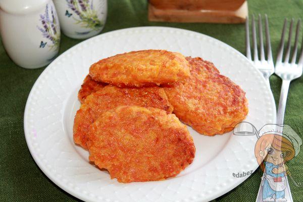 котлеты из вареной моркови с манкой