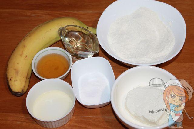 Ингредиенты для банановых печений