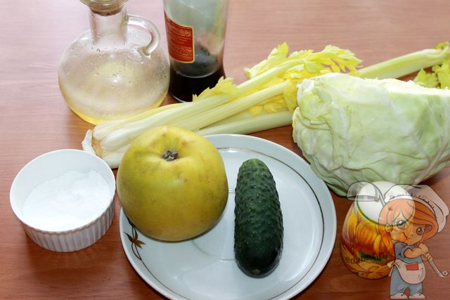 Продукты для очищающего салата