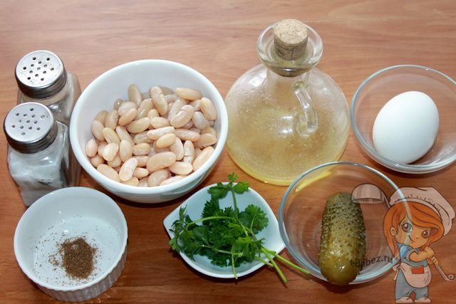 Салат с фасолью: продукты