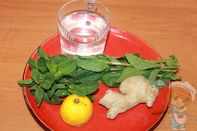напиток с имбирем и лимоном: ингредиенты