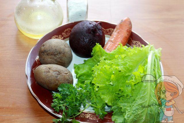 летний винегрет: продукты для салата