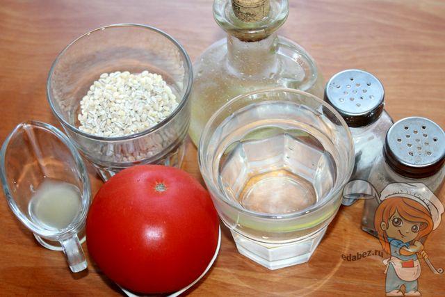 Перловка в томате: ингредиенты