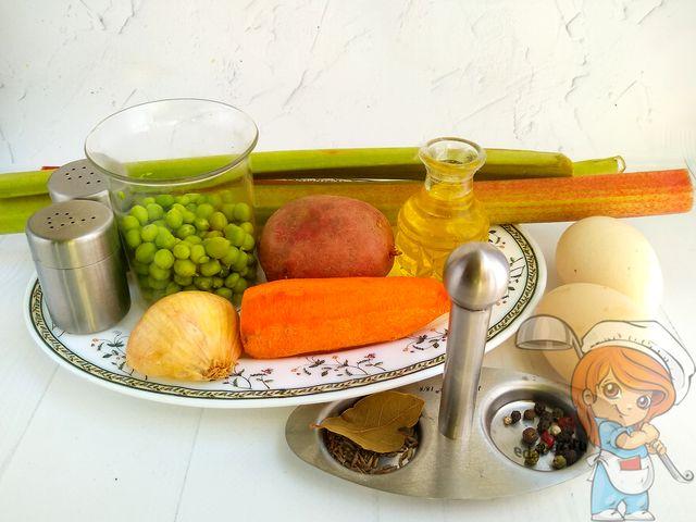 Суп с ревенем: продукты для рецепта