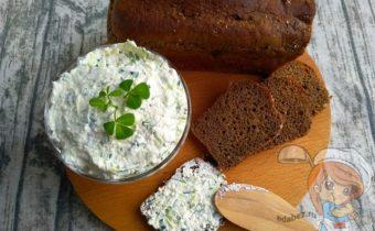 Творог с огурцом и зеленью: рецепт закуски