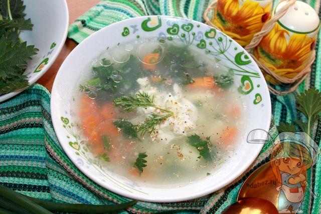 Зеленый щи с крапивой - рецепт с фото