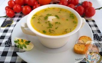 Суп с ревенем и яйцом - рецепт без мяса
