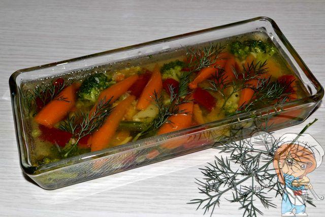 Заливное из овощей с желатином