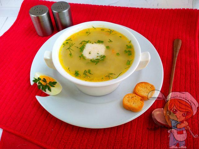 Нежный вегетарианский суп из ревеня